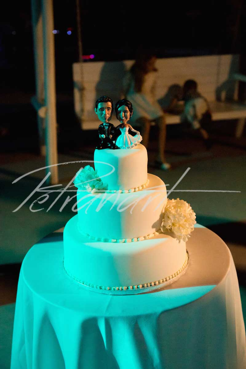 Santorini wedding cakes
