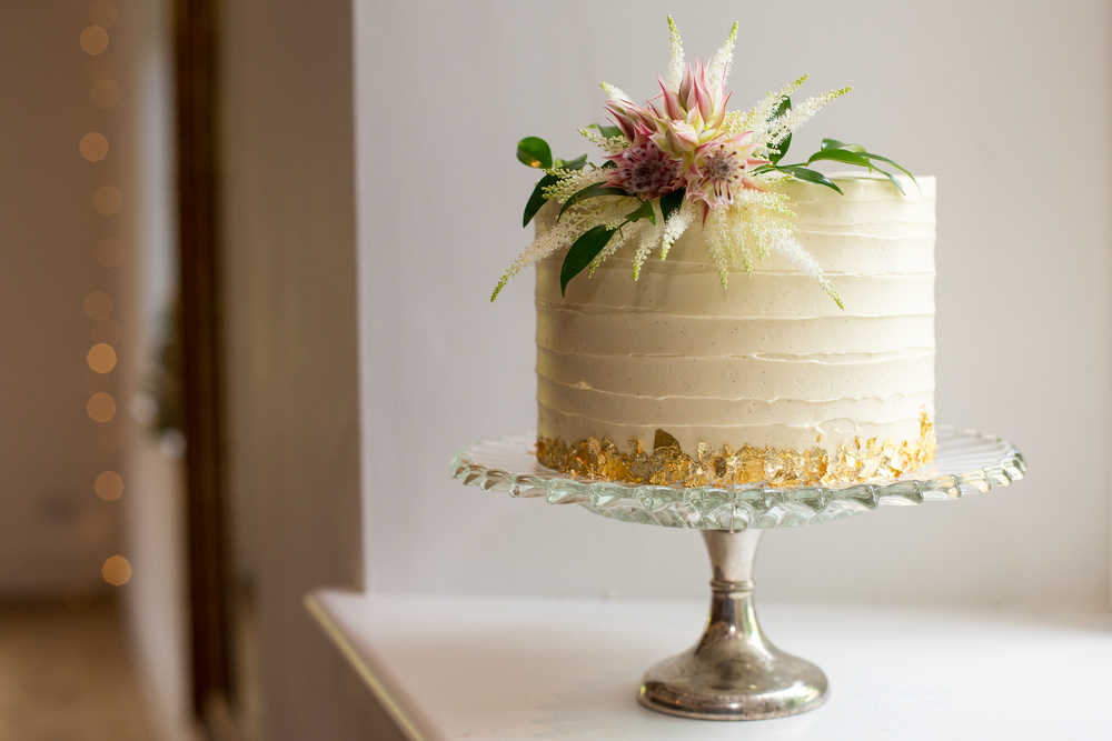 Gold+Leaf+Bakery+Buttercream+Cake